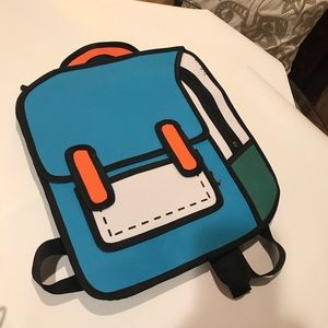 3D Jump Style Comic Backpack